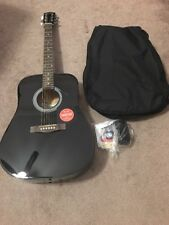Acoustic Guitar Dreadnought Full size Pack Gig Bag Tuner Strings Fender FA-100