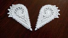 Large,White Guipure Lace,Applique,trimmings,Wedding-1/2 Heart Motifs - 90mm x 2