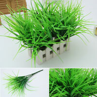 1PC Artificia 7 FORK Plastic Green Grass Plant Flower Office Home Garden Decor