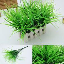 Artificia 7 FORK Plastic Green Grass Plant Flower Office Home Garden Decoration
