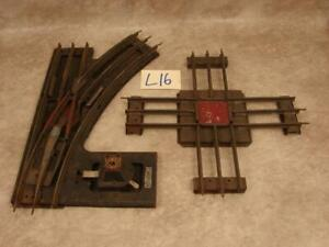 L16B VINTAGE LIONEL #210 ELECTRIC CONTROL SWITCH & CROSSING STANDARD GAUGE PARTS