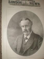 Arthur Balfour MP First Lord of Treasury 1891 print ref AZ
