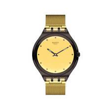 Orologio Swatch SKIN SKINMOKA SVOC100M UNISEX watch SOTTILE ACCIAIO ORO DORATO