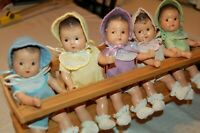 Vintage 7.5 Madame Alexander Dionne Quintuplets High chair tagged rompers hats