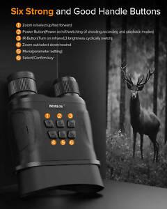 BOBLOV 1080P Digital Binoculars Hunting Goggles Video Camera IR Night Vision~