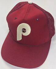 True Vintage 80s Philadelphia Phillies MLB Baseball Official Snapback Cap Hat