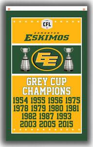 Edmonton Eskimos Football Team Champions Flag 90x150cm 3x5ft Fan Best Banner