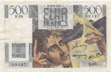 France  500  Francs  12.9.1946  P 129a  Series  R.88  Circulated Banknote SDJ18