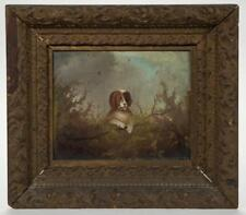 AMERICAN SCHOOL (19TH CENTURY) FOLK ART PAINTING OF A DOG IN LANDSCAPE Lot 1361