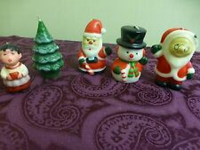 "Nib Vintage Christmas Candles 4"" Action Industries 1980's Santa Mrs Claus Frosty"