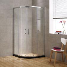 SEESUU Glass Corner Sliding Shower Door Quadrant Walls in Enclosure Shower Units
