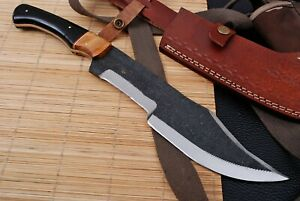 "15"" Custom Hand Forged Railroad High Carbon Steel Hunting Tracker Knife (751)"