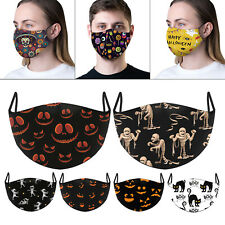 Halloween Face Mask Scary Funny Fashion Washable Reusable Breathable Face Cover