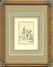 "JEAN DUPLESSIS-BERTAUX & ORIGINAL ca 1800's ENGRAVING ""Md de Tisane""  FRAMED"