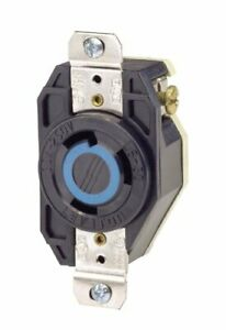 Leviton 2620 30 Amp 250 Volt Flush Mounting Locking Receptacle Industrial Gra...