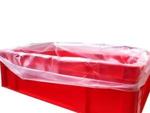 1000 Fleischkistenbeutel Eurofleischkisten Einlegesäcke  Kisten 62+40x65cm HDPE