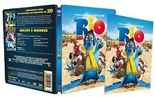Rio 3D [2011] (Blu-ray 3D + 2D)~~~~STEELBOOK LENTICULAR FRONT~~~~NEW & SEALED