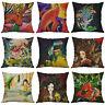 Fish cartoon case Linen Pillows Cotton Decor Printing 18 Home Cushion Cover