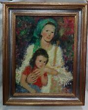 Dipinto su tela firmato Serena del '900 cm 30x40 Antikidea