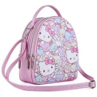 Girls Cute Hello Kitty Backpack Phone Shoulder Crossbody Bag Tote Handbag Gift