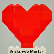 New Genuine LEGO Red Heart Love Wedding Valentine's Day