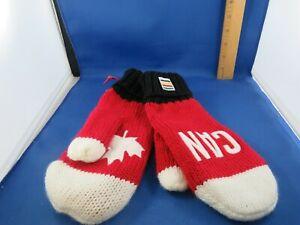Winter Olympics Team Canada Adult L/XL Red Knit Mittens - Hudsons Bay Company