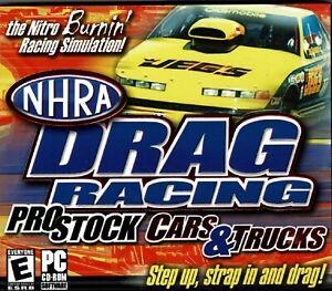 NHRA Drag Racing Pro Stock Cars & Trucks Pc New XP Pure Adrenaline 25 Events