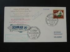 flight of zeppelin Schwab D-Lisa cover Mulheim Germany 90876