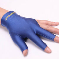 Elastic Lycra 3 Finger Billiard Gloves Pool Snooker Cue Left and Right Gloves US