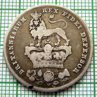 GREAT BRITAIN GEORGE IV 1826 ONE SHILLING, SILVER