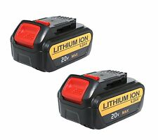 2 Pack New 20 Volt Max XR 4.0 Amp Li-Ion Battery for Dewalt DCB204-2 DCB205