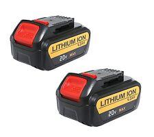 2 Pack New 20 Volt Max XR 4.0 Amp Lithium Ion Battery for Dewalt DCB204-2 DCB205