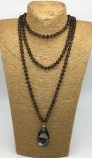 Fashion 36 inch knot Crystal Beads stone Crystal Pendant Woman Necklace Gift