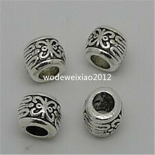 20pc Tibetan Silver Charm Flower String Spacer Beads Accessories wholesale JP902