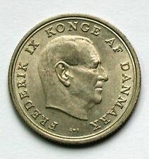 1969 DENMARK Frederik IX Coin - 1 Krone - AU dull lustre