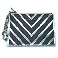 CHANEL CC-Mark Chain strap V-Stitch Chevron Cluch Bag accessory case Leather