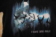 The Dark Knight I Have One Rule Batman Men's Black Shirt Size Small DC Comics