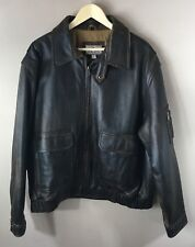 Classic  Coletti  leather bomber / flight jacket Men's 2XL factory distressed