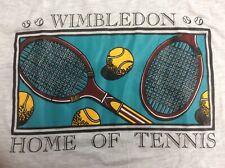 Wimbledon Tennis Design Printed Unisex Cotton T-shirt Heather Grey XLarge