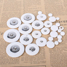 White Leather Soprano Saxophone Pads Set of 28 Pads