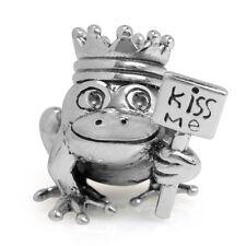 AUTH Nagara 925 Sterling Silver PRINCE FROG KISS ME European Charm Bead