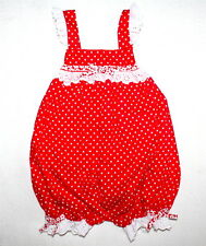 NWOT LITTLE ZAZZY Boutique Red Polka Dot Flutter Romper Minnie Mouse Girl 18 M