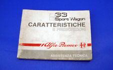 Caratteristiche e Prescrizioni Tecniche Alfa Romeo 33 e Sport Wagon 1990 206 pag