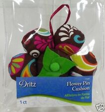 Dritz Collectible BOHO Flower Fabric Pin Cushion Sewing Seamstress Crafts New