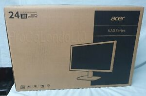 "New Acer KA240HQ 23.6"" WideScreen Monitor Full HD, LED, Backlit, VGA, HDMI"