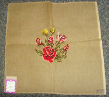 Stunning red roses floral flower bouquet needlepoint canvas romantic chic garden