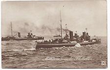 AK Manöverierende Flottille Kaiserliche Marine Schiffe MSP Stempel Boot Postcard