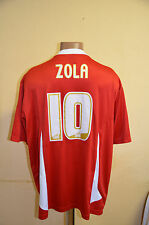 CREWE ALEXANDRA ENGLAND MATCH WORN OR ISSUE FOOTBALL SHIRT JERSEY #10 ZOLA