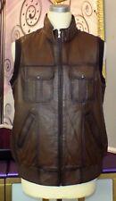 Herren Tolle  Lederweste  echtes Leder Vintage - Look  Gr.54,56  NEU