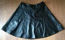 New Look Petite Black Pleather Skirt Size 6 (EU 34)